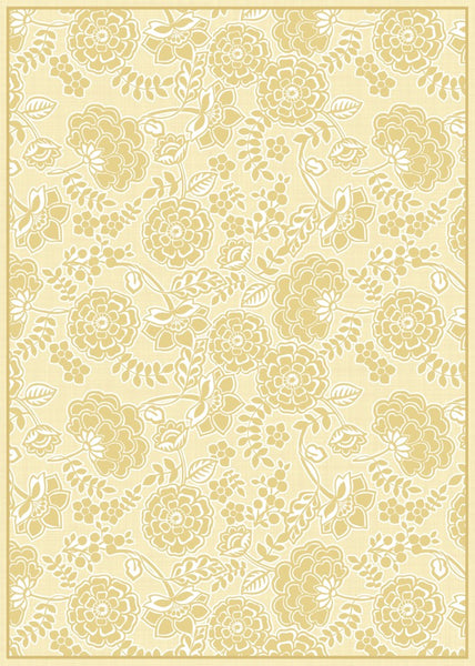 Porcelain Yellow Floor Flair - 5 x 7