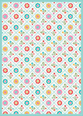 Quilted Floral - Multi Floor Flair - 5 x 7
