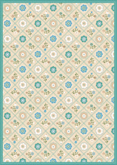 Quilted Floral - Neutral Floor Flair - 5 x 7