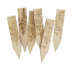 Herb Wooden Plant Markers
