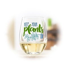 Keep Your Plants On Wine Glass