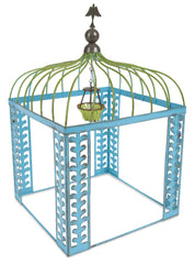 Mini Blue Gazebo with Chandelier