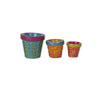 Mini Patterned Pots S/3 asst.