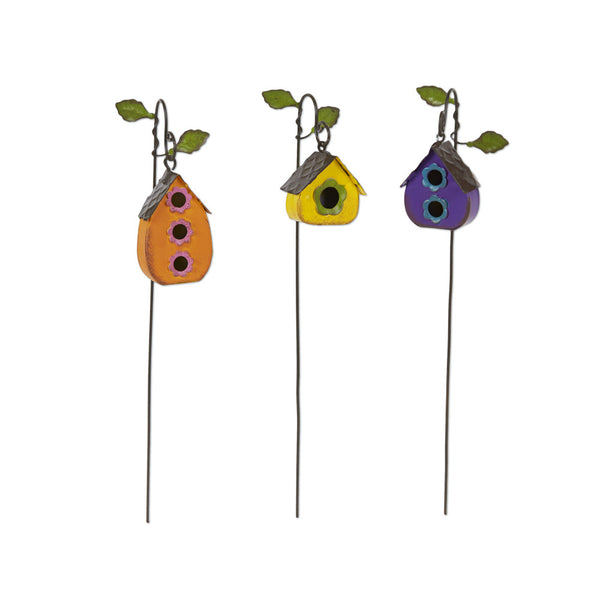Mini Hanging Birdhouses S/3 asst.