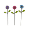 Mini Button Flower Picks S/3 asst.