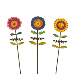 Mini Boho Flower Picks S/3 asst.