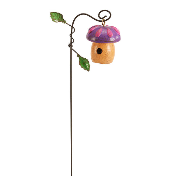 Mini Purple Toadstool Birdhouse