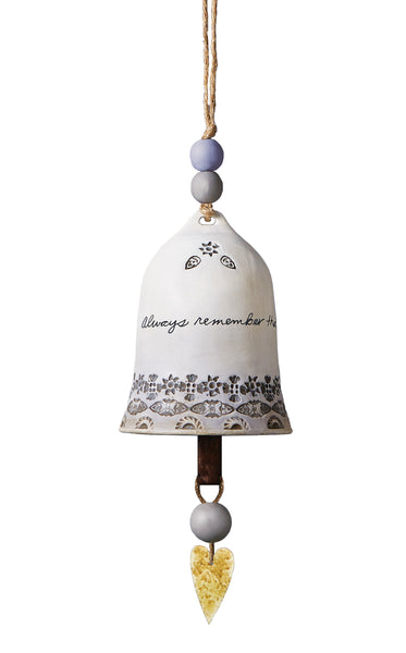 Sending Prayers Ceramic Bell