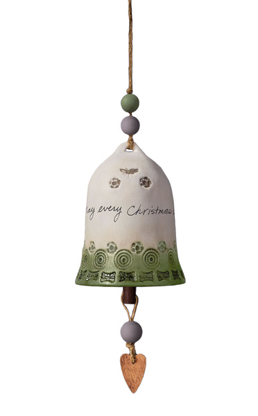 Christmas Traditions Ceramic Bell