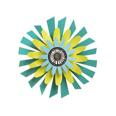 Citron Flower on Teal Petals 13