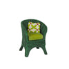 Mini Green Wicker Chair