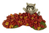 Mini Raccoon in Leaves