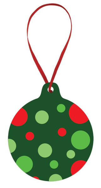 Red and Green Dots Ornament