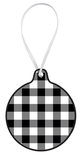 Black Check Ornament