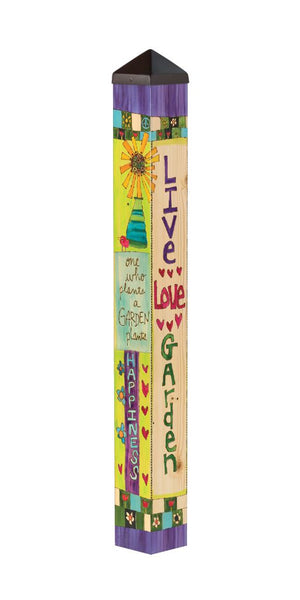 Live Love Garden 3' Art Pole