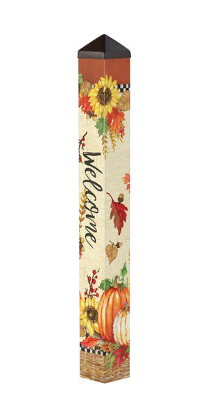 Fall Sunflower Welcome 3' Art Pole