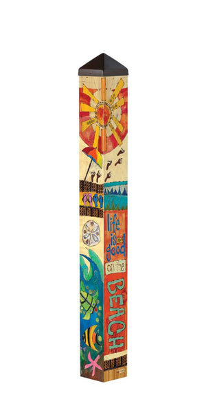 Peace, Love, Sunshine 3' Art Pole