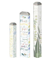 True Cotton Mini Art Poles Set - S/3 asst.