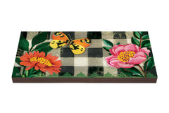 Butterfly in Check Art Paver Garden Step