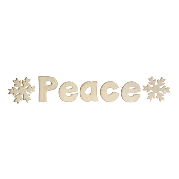 Peace and Snowflakes S/3 asst.