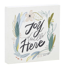 Joy Dwells Here Canvas Wall Art
