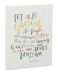 Let Us Be Grateful Canvas Wall Art