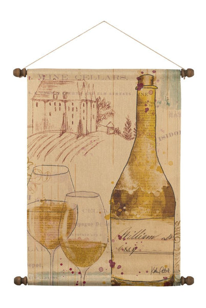 Chateau Winery White Wall Hanging