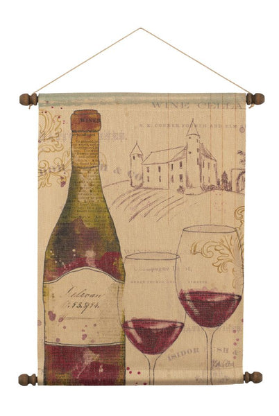 Chateau Winery Red Wall Hanging