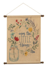 Blooming Thoughts Enjoy Wall Hanging