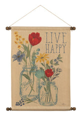 Blooming Thoughts Live Wall Hanging