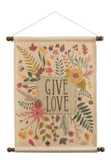 Autumn Garden Love Wall Hanging