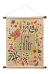 Autumn Garden Live Wall Hanging
