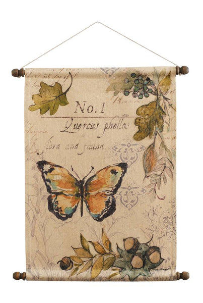 Butterfly with Acorns Wall Hanging