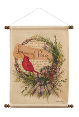 Peace Cardinal Wall Hanging