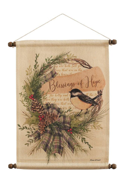 Hope Chickadee Wall Hanging