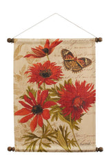 Wildflower Walk Red Wall Hanging