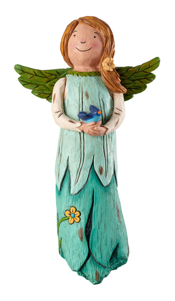 Bluebird of Happiness Garden Angel