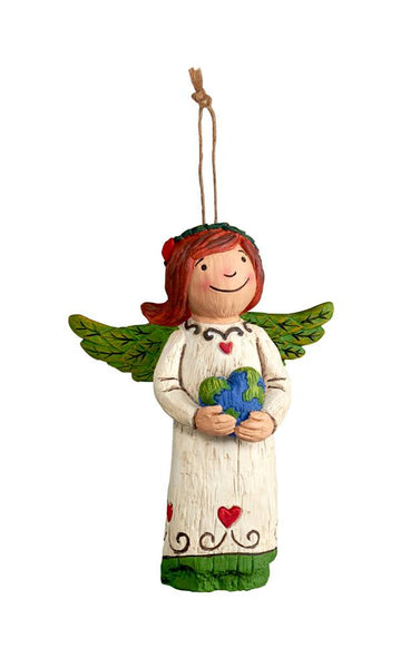 Peace and Love Angel Ornament