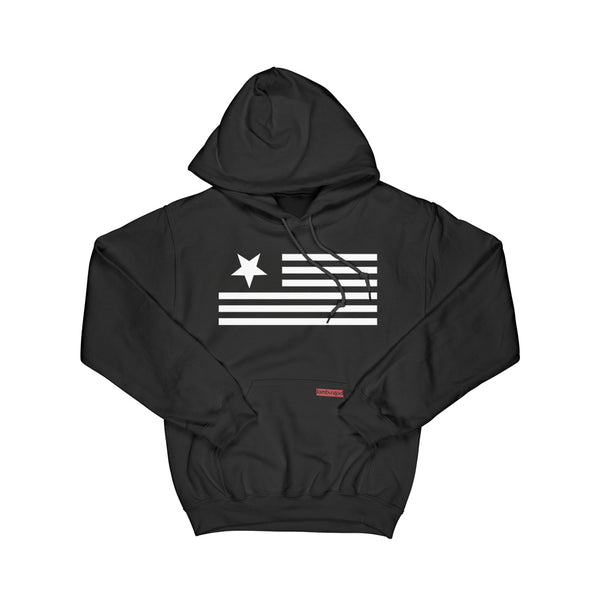 Flag and Tab Pullover Cut and Sew Hoodie