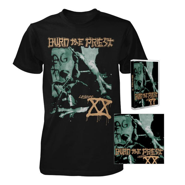 Burn the Priest Legion:XX CD & Tee & Cassette Bundle