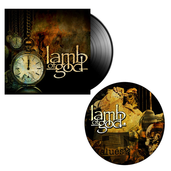 Lamb of God Album Standard Vinyl + Collage Slipmat Bundle