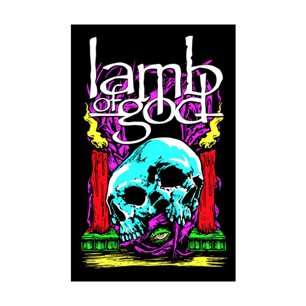 Candle Skull Blacklight Poster