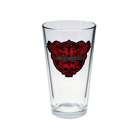 Snake and Eagle Decal Pint Glass