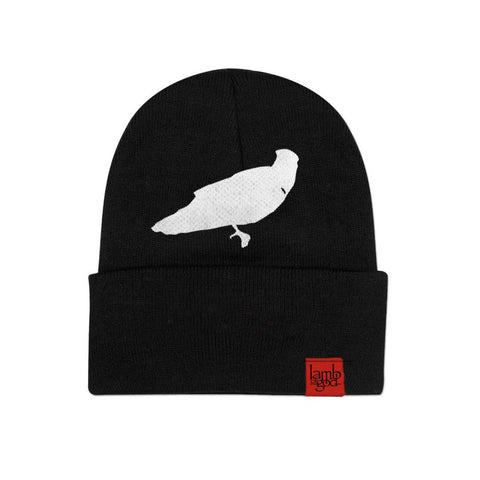 Crow and Logo Tab Beanie