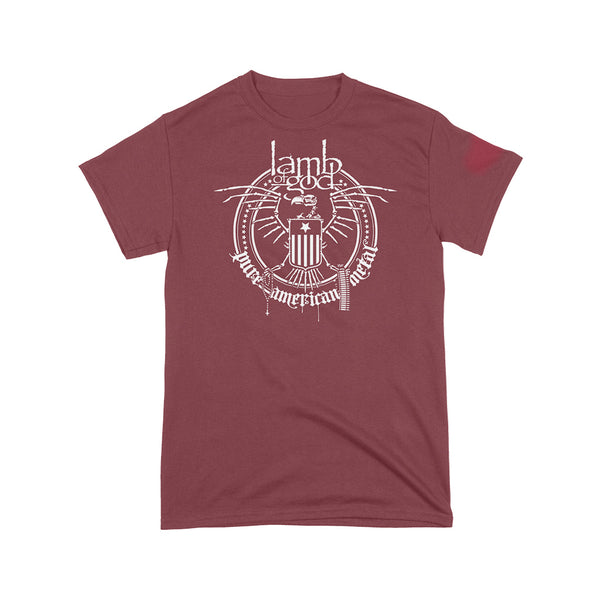 Skeleton Eagle Maroon Tee