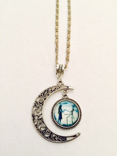 Crescent Moon Nightmare Before Christmas Pendant Necklace