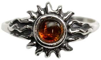 Amber Sun ring Size 5