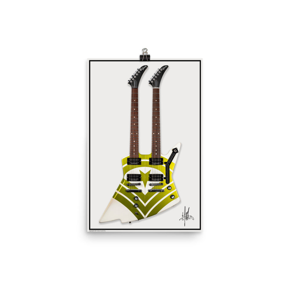 Jason Hooks Custom Double Neck Gibson Explorer Poster