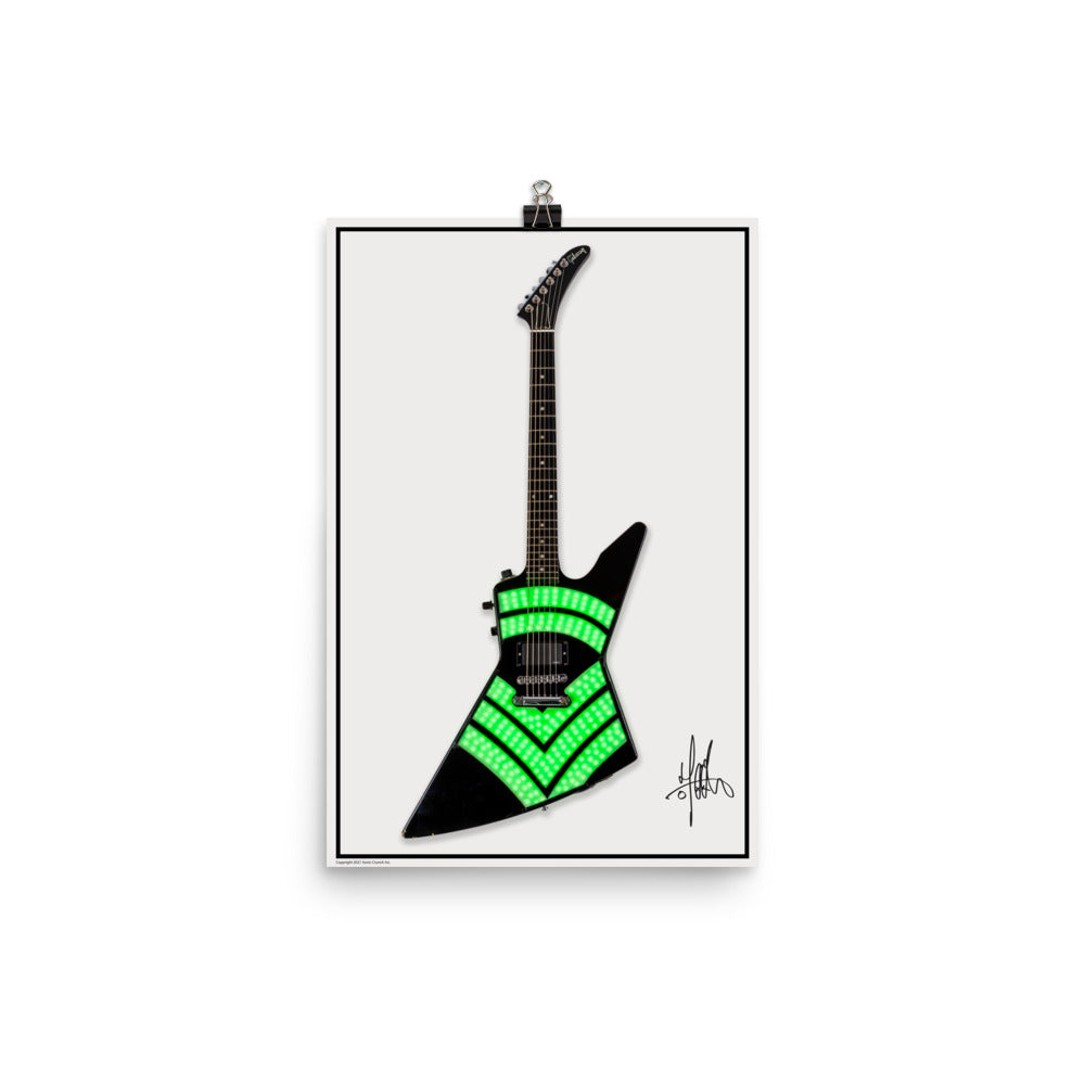 Jason Hook Guitar LED Explorer Poster