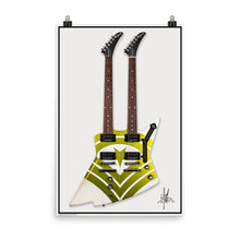 Load image into Gallery viewer, Jason Hooks Custom Double Neck Gibson Explorer Poster
